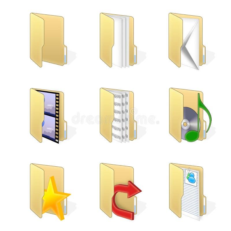 Dispositivi di piegatura stabiliti dell'icona illustrazione di stock