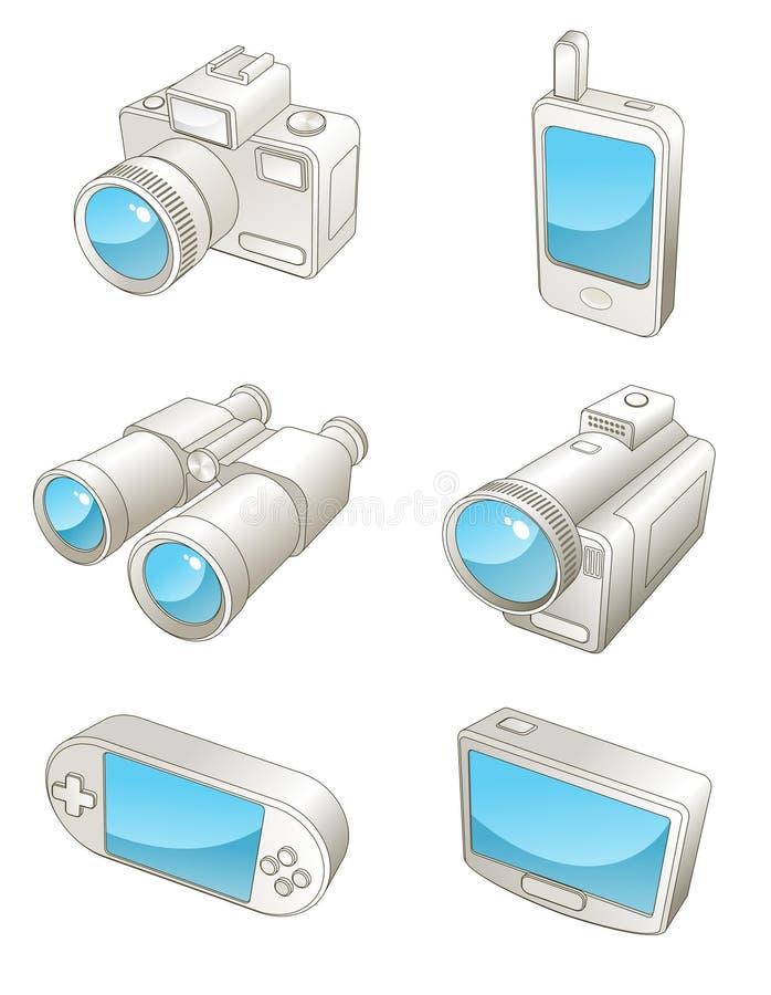 Dispositivi elettronici di corsa illustrazione vettoriale
