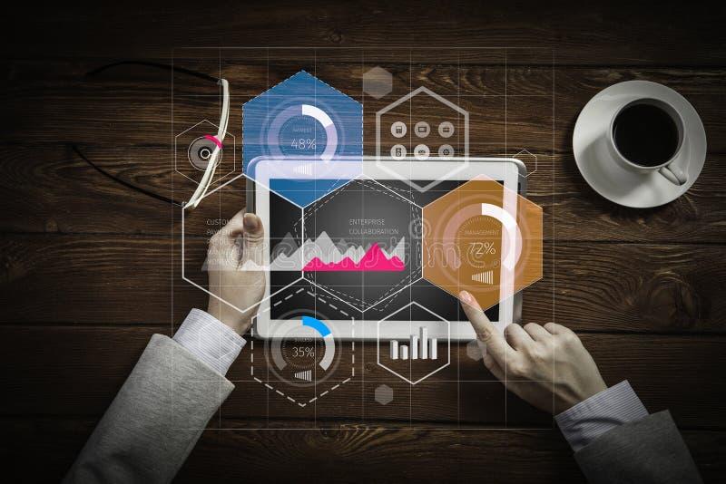 Dispositivi moderni per l'affare illustrazione di stock