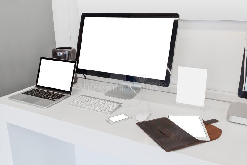 Dispositivi rispondenti immagine stock