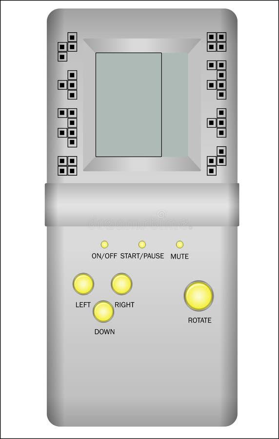 Dispositivo antiquato di tetris royalty illustrazione gratis