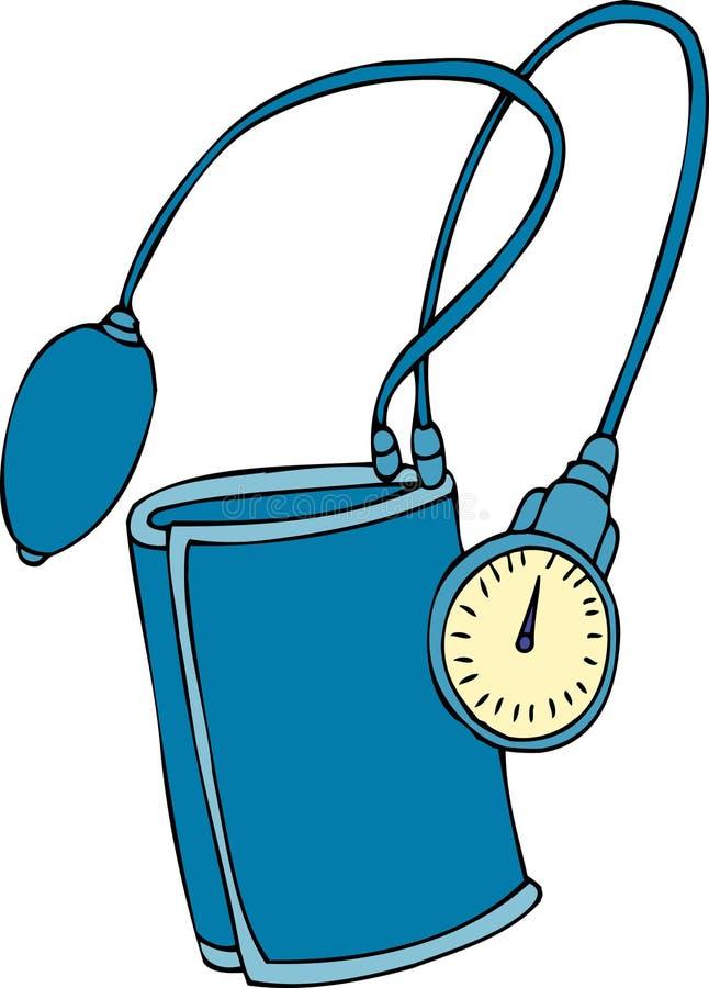 Dispositivo da pressão sanguínea ilustração stock