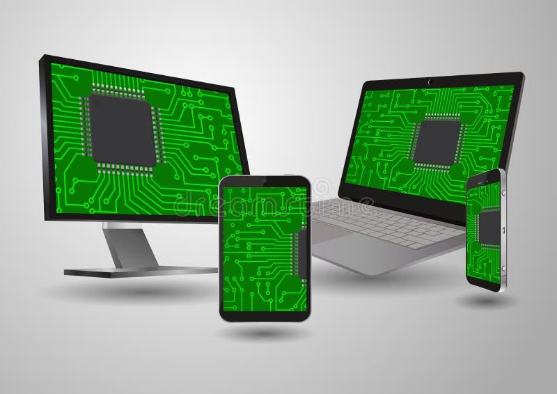 Dispositivo da tecnologia ilustração do vetor