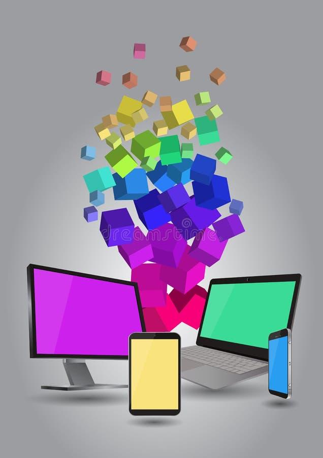 Dispositivo da tecnologia ilustração stock