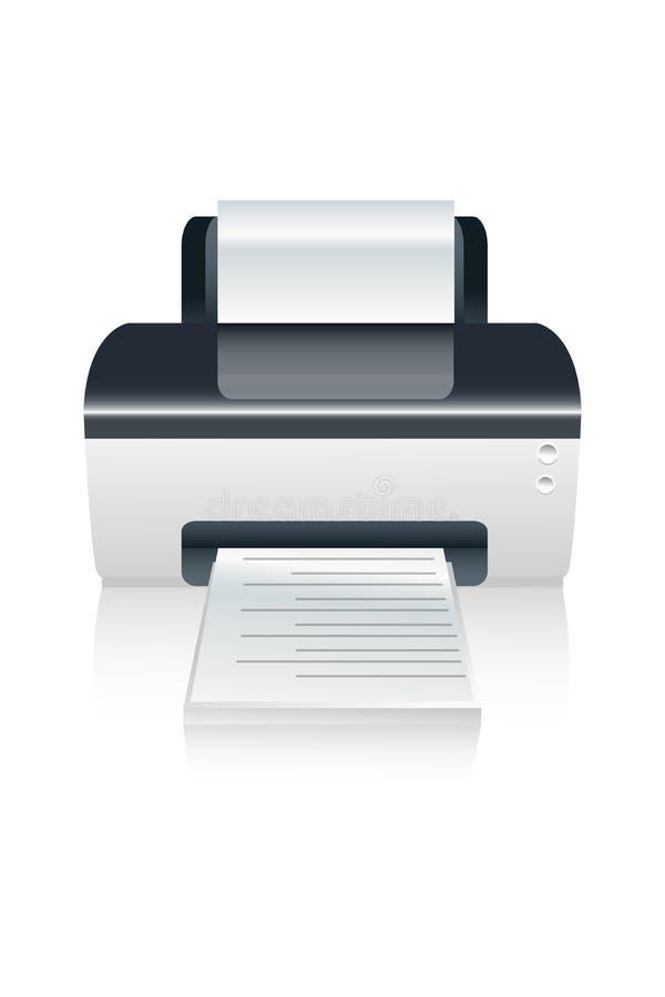 Dispositivo de impressora da cor do vetor ilustração royalty free
