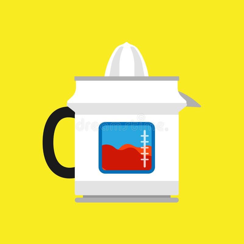 Dispositivo de la comida de la cocina del icono del vector de la fruta del Juicer Bebida de la licuadora que cocina el equipo Her libre illustration