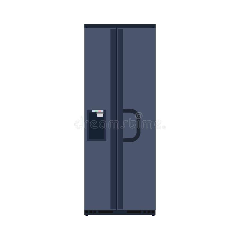 Dispositivo de la comida del icono del vector del refrigerador de la cocina Equipo del hogar del refrigerador Muebles interiores  stock de ilustración