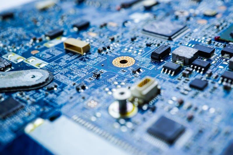 Dispositivo de la electrónica del procesador de la base del mainboard del microprocesador de la CPU del circuito de ordenador imagen de archivo