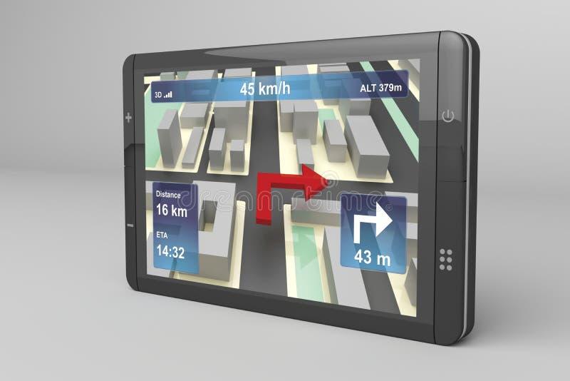 Dispositivo de la navegación del GPS ilustración del vector