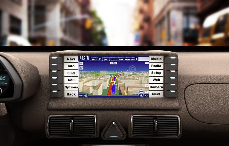 Dispositivo de la navegación en el ejemplo del coche 3d ilustración del vector