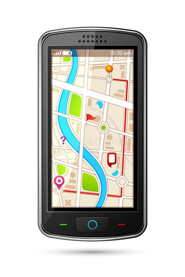 Dispositivo de la navegación GPS ilustración del vector