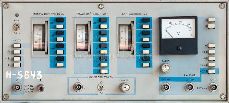Dispositivo de medição científico foto de stock
