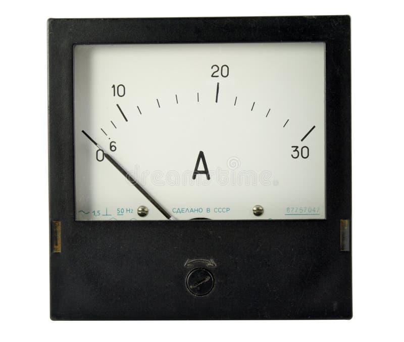 Dispositivo de medição velho fotografia de stock royalty free