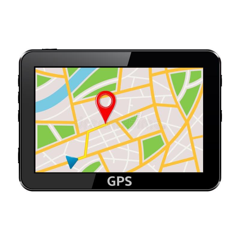 Dispositivo de sistema de navegación GPS stock de ilustración