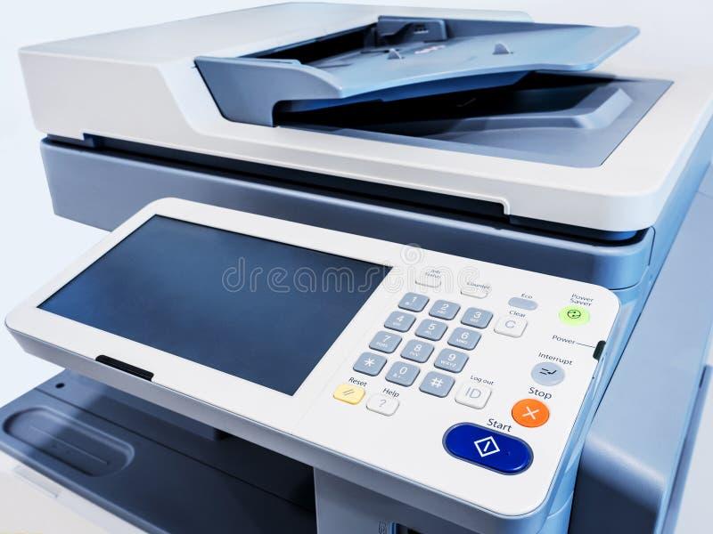 Dispositivo de trabalho da copiadora do varredor de impressora fotografia de stock