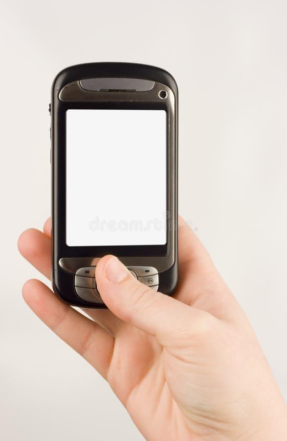 Dispositivo de uma comunicação empresarial da tecnologia imagens de stock