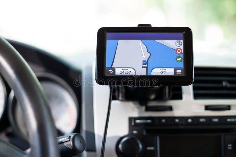 Dispositivo del navegador auto de los Gps fotografía de archivo libre de regalías