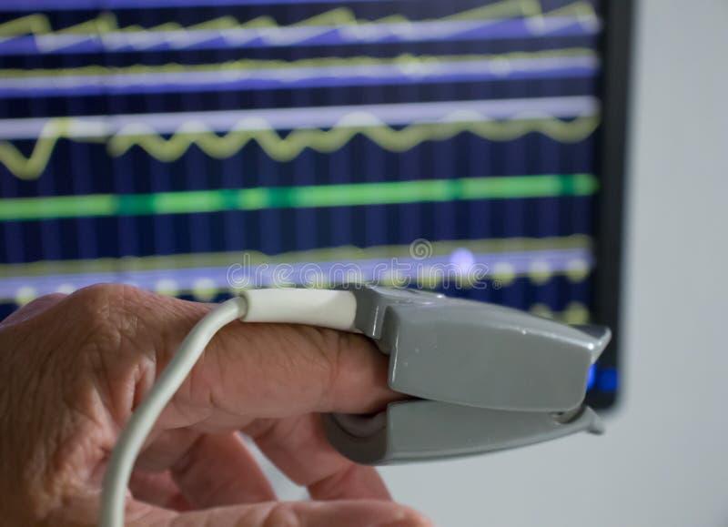 Dispositivo del oxígeno mesuring foto de archivo