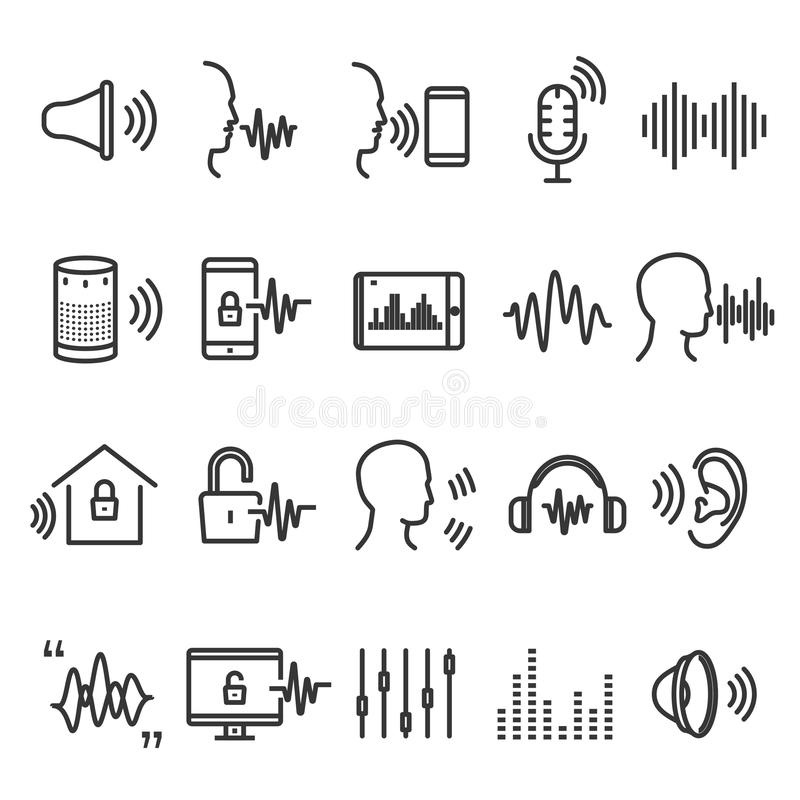 Dispositivo del reconocimiento de voz libre illustration