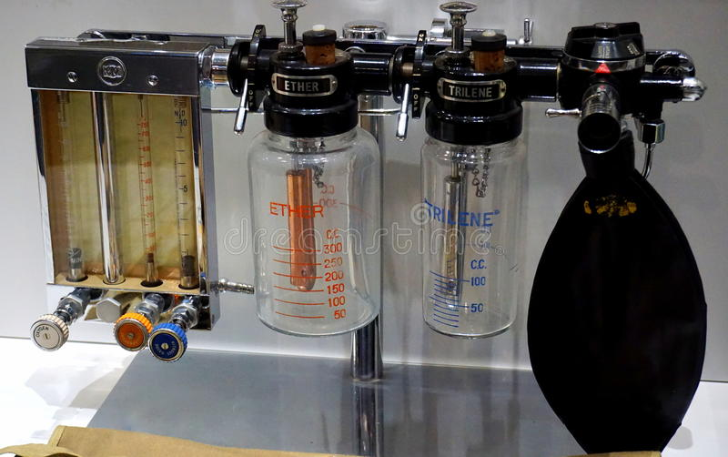 Dispositivo di anestesiologia fotografia stock libera da diritti