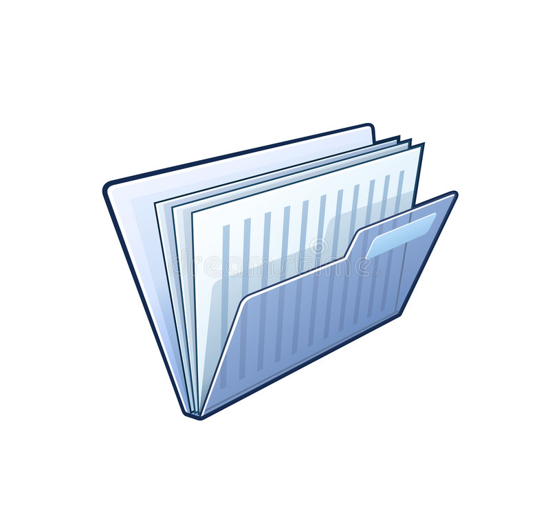 Dispositivo di piegatura con i documenti royalty illustrazione gratis