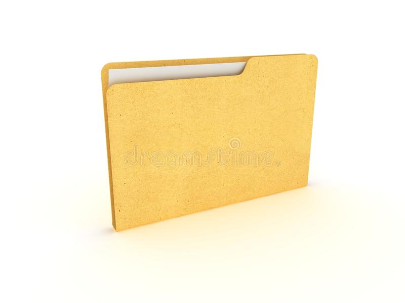 Dispositivo di piegatura con il documento fotografie stock