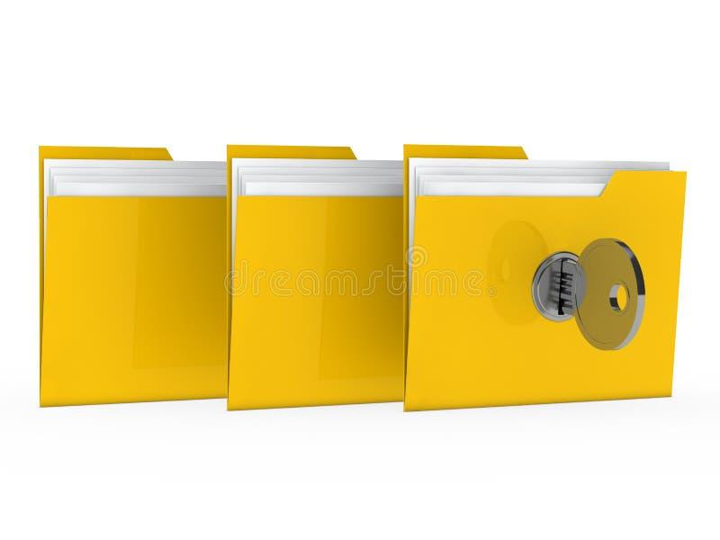 Dispositivo di piegatura con il tasto illustrazione di stock