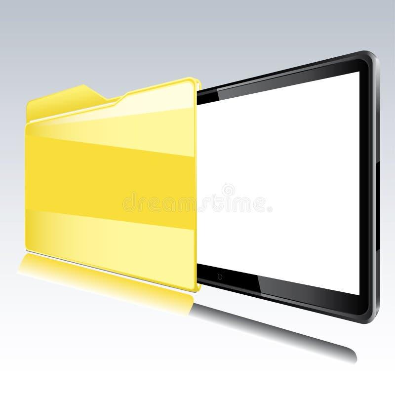 Dispositivo di piegatura con il video astratto all'interno. royalty illustrazione gratis