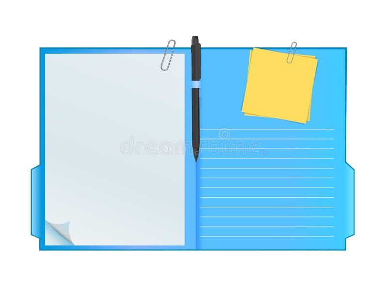 Dispositivo di piegatura dei appunti di vettore illustrazione di stock