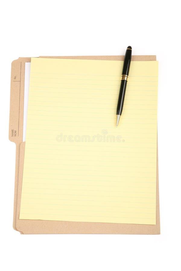 Dispositivo di piegatura di archivio e della carta da lettere fotografie stock libere da diritti