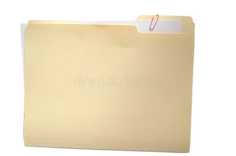 Dispositivo di piegatura e documento su bianco fotografia stock
