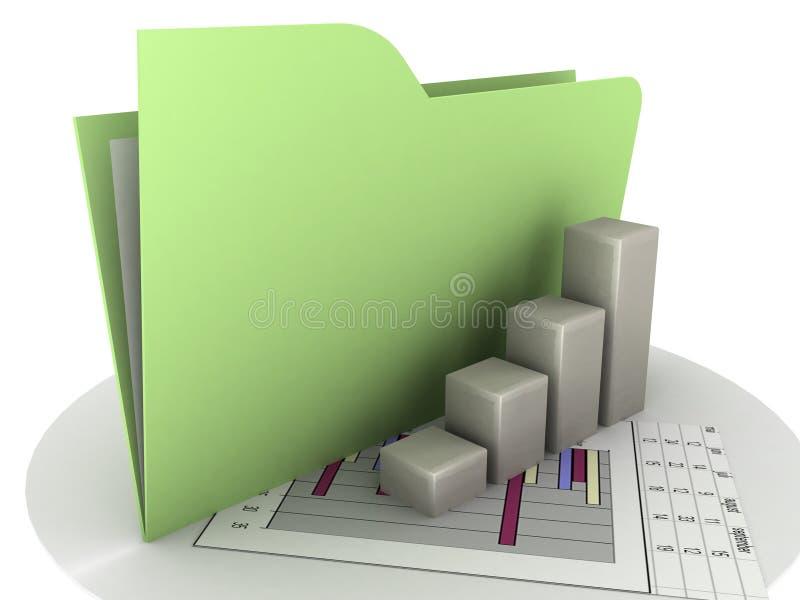 Dispositivo di piegatura: Schema di affari illustrazione vettoriale