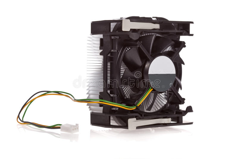 Dispositivo di raffreddamento del CPU isolato immagini stock