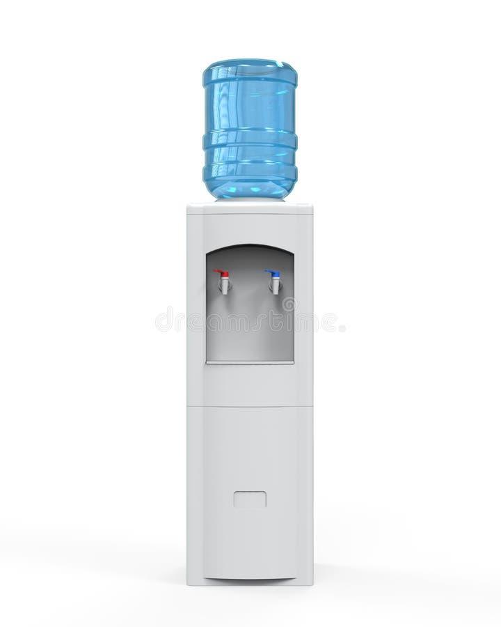 Dispositivo di raffreddamento di acqua bianca illustrazione di stock