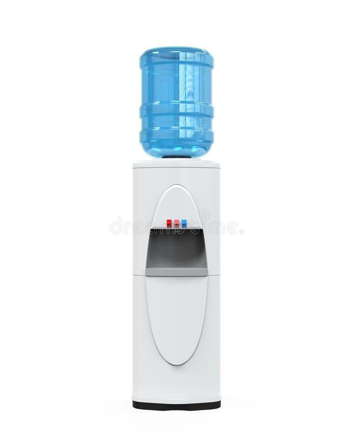 Dispositivo di raffreddamento di acqua bianca fotografia stock