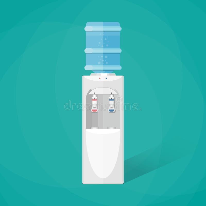 Dispositivo di raffreddamento di acqua grigio con la bottiglia piena blu royalty illustrazione gratis