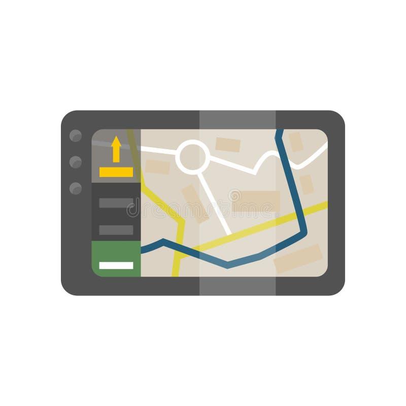 Dispositivo di sistema di posizionamento globale, domanda mobile di illustrazione di vettore di navigazione illustrazione vettoriale