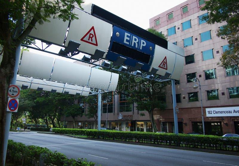 Dispositivo do ERP de Singapura foto de stock