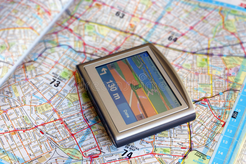 Dispositivo do GPS fotos de stock royalty free
