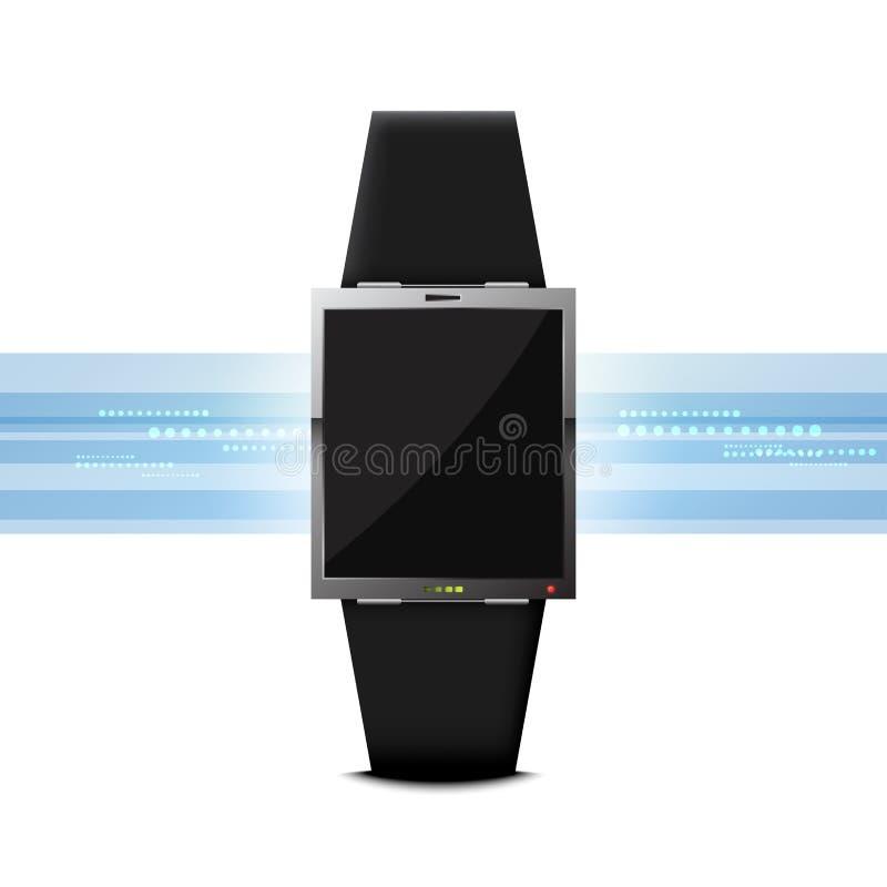 Dispositivo elegante de la innovación de la tecnología del reloj ilustración del vector