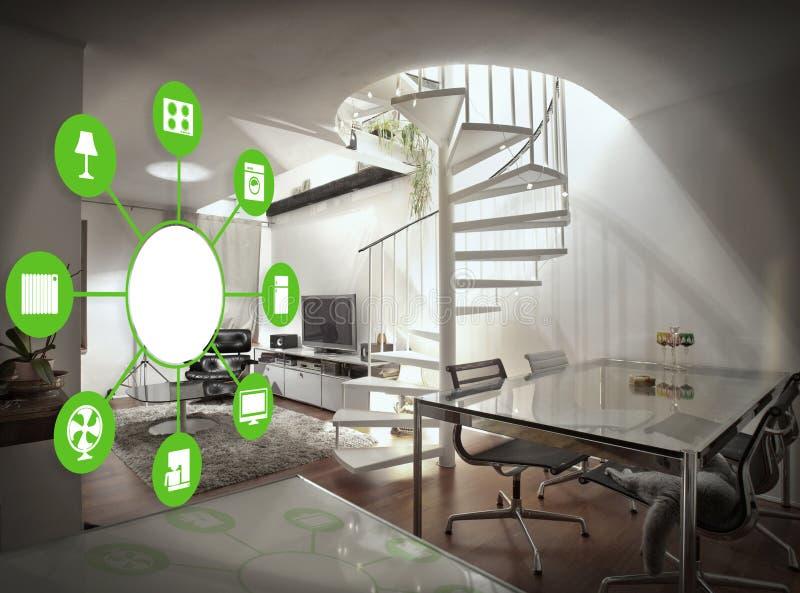 Dispositivo home esperto - controle home ilustração stock