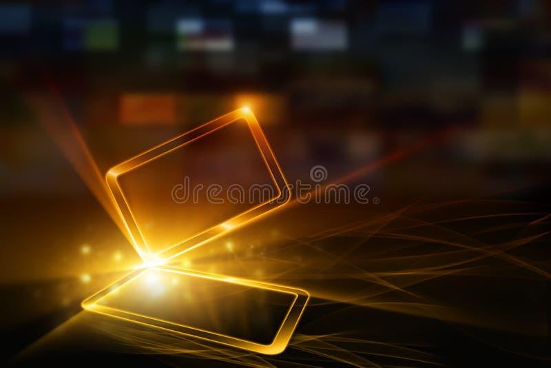 Dispositivo móvil abstracto foto de archivo