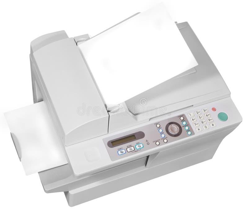 Dispositivo multifuncional de la oficina gris imagen de archivo libre de regalías