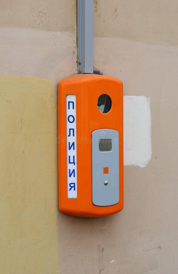 Dispositivo para chamar a polícia foto de stock