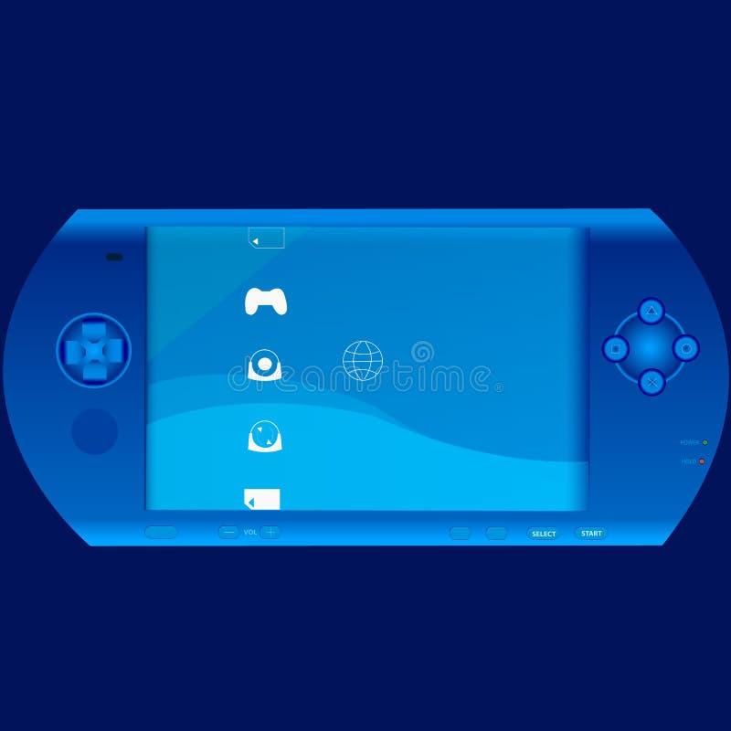 Dispositivo portátil del videojuego ilustración del vector