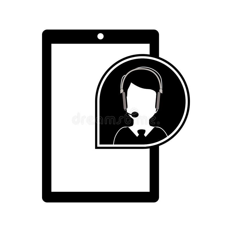 Dispositivo portatile di Smartphone illustrazione di stock