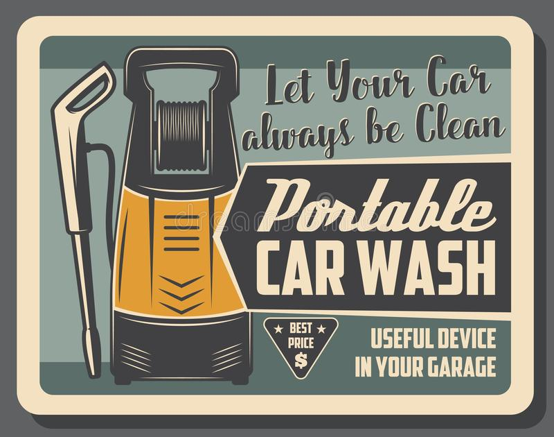 Dispositivo, serviço e manutenção da lavagem de carros ilustração stock