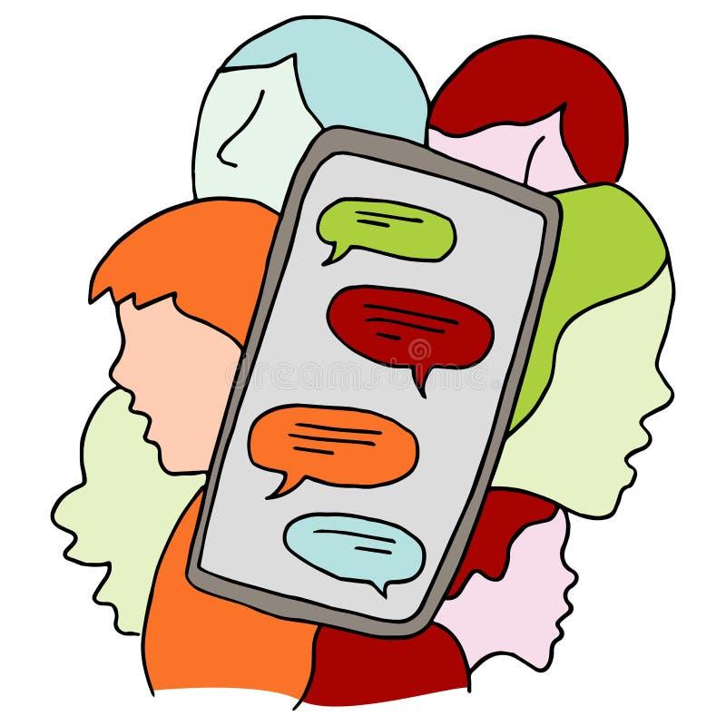 Dispositivo social de la red stock de ilustración