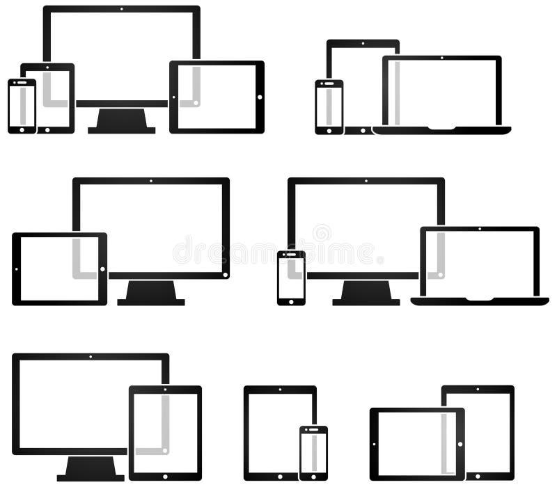 Dispositivo Symobls di tecnologia royalty illustrazione gratis