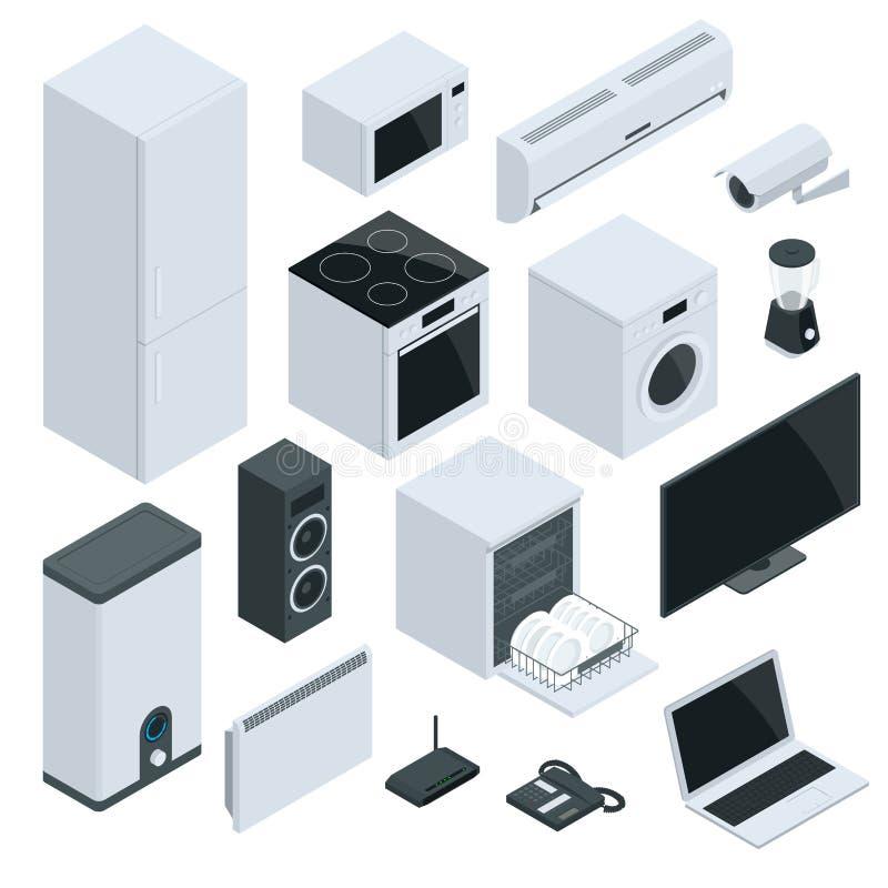 Dispositivos da cozinha e da casa ilustração stock